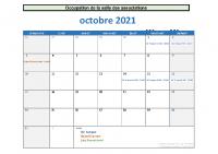Calendrier Oct-Nov-Dec 2021