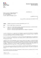 Obligation d'équipements hivernaux-Lettres aux maires